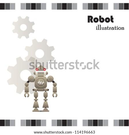 Robot clipart - stock vector