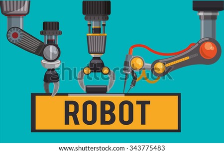 Robot concept and technology design, vector illustration 10 eps graphic. - stock vector