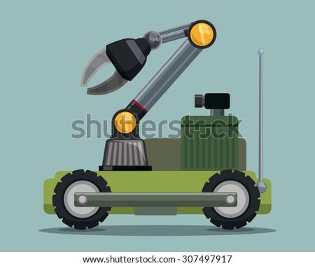Robot digital design, vector illustration eps 10. - stock vector