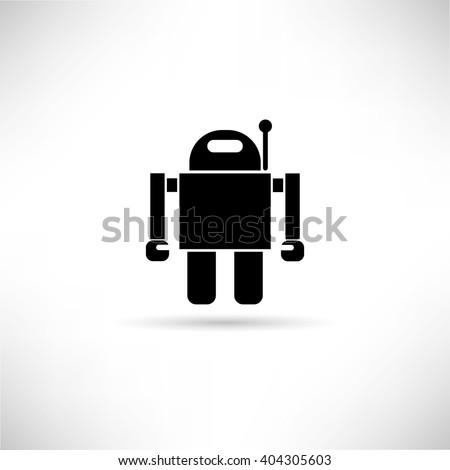 robot icon - stock vector