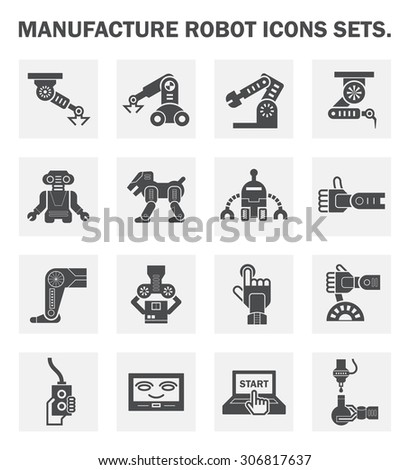 Robot icon sets. - stock vector