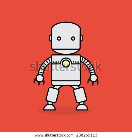 Robot man. - stock vector