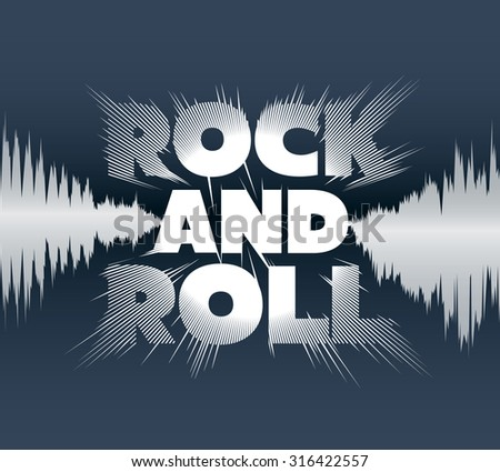 Rock-and-roll lettering. Vector image. - stock vector