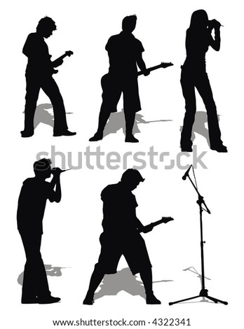 rock-and-roll set - stock vector