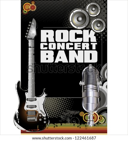 Rock concert background - stock vector