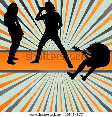 Rock concert band burst background vector - stock vector