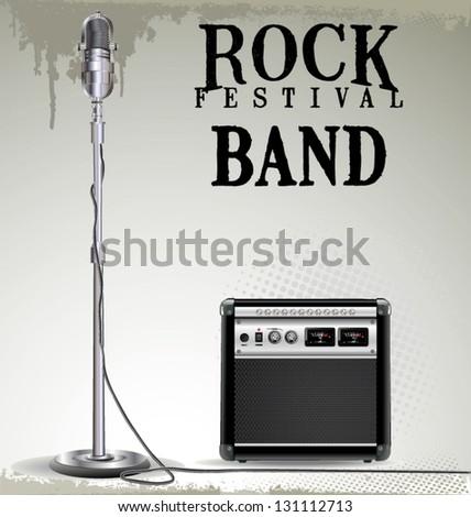 Rock festival background - stock vector