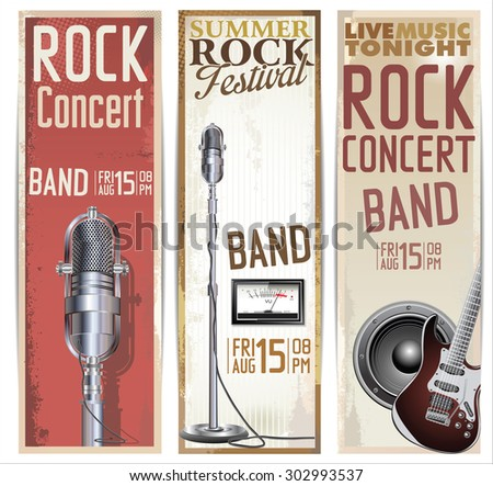 Rock festival design template - stock vector