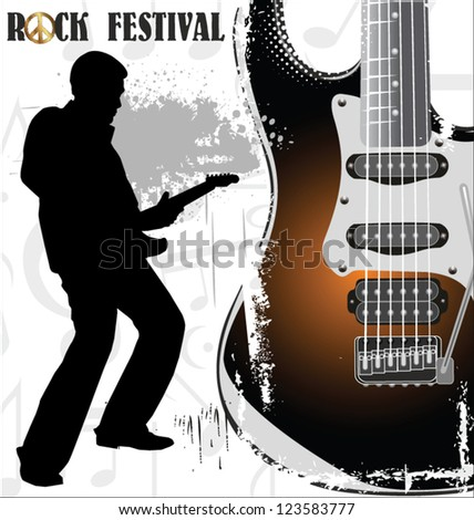 Rock festival wallpaper - stock vector