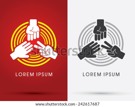 Rock Paper Scissors logo, symbol, icon, graphic, vector. - stock vector