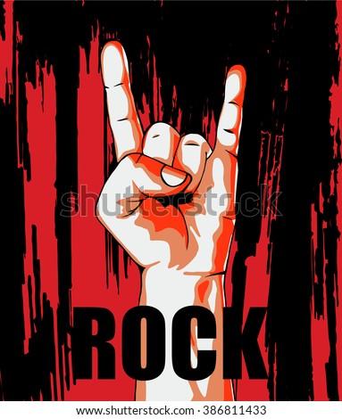 Rock poster  - stock vector
