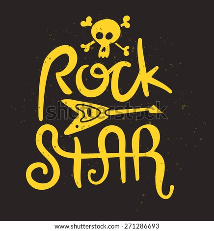 Rock Star Poster. Vector Illustration - stock vector