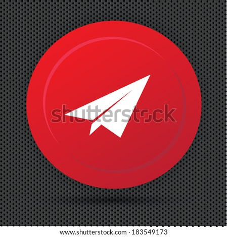 Rocket button,vector - stock vector