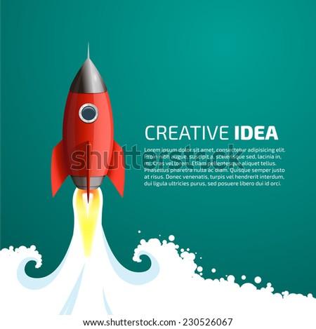 Rocket - creative idea - stock vector