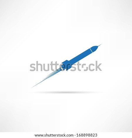 Rocket icon - stock vector