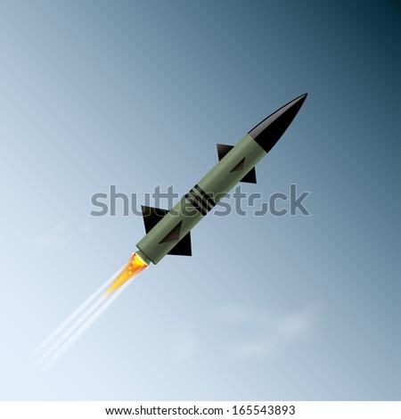 rocket in the sky. vector illustration. eps10 - stock vector