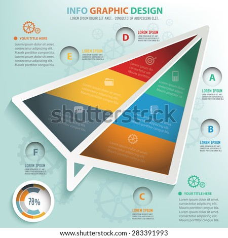 Rocket info graphic design, Business concept design. Clean vector. - stock vector
