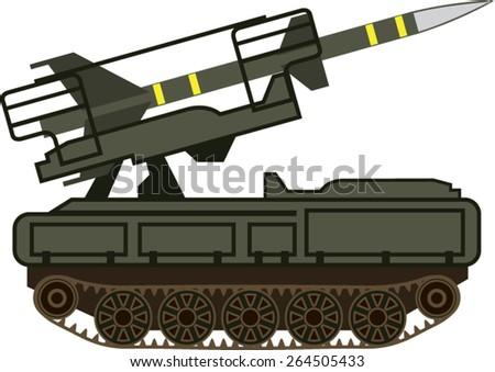 Rocket launcher - stock vector