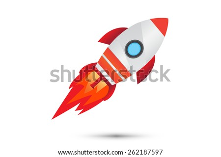Rocket launcher red design. - stock vector