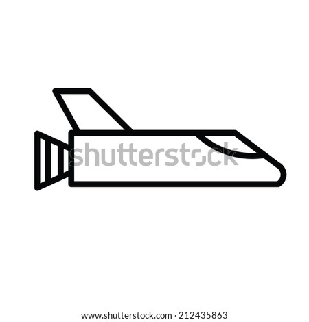 rocket  vector - stock vector