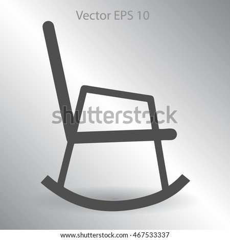 rocking chair vector illustration - stock vector