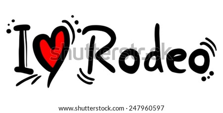 Rodeo love - stock vector