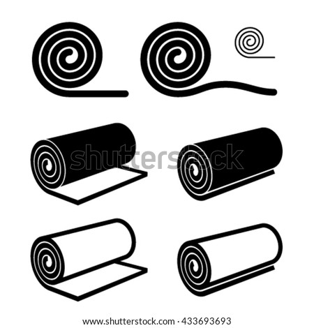 roll of anything black symbol vector - stock vector