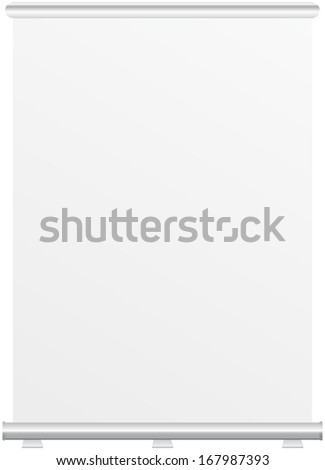 Roll up banner dispaly, free copy space, isolated, vector eps 10 - stock vector