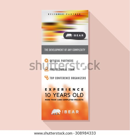 Roll Up vector design business stand, banner stand poster illustrations - stock vector