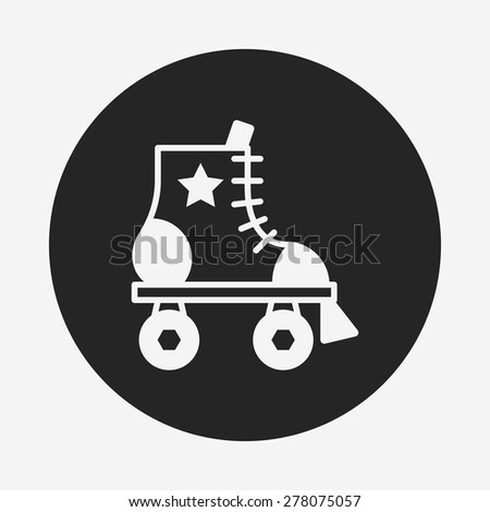 roller skate icon - stock vector