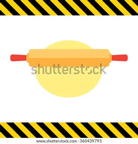 Rolling pin and dough - stock vector