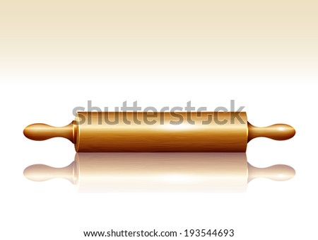 Rolling pin. Vector - stock vector