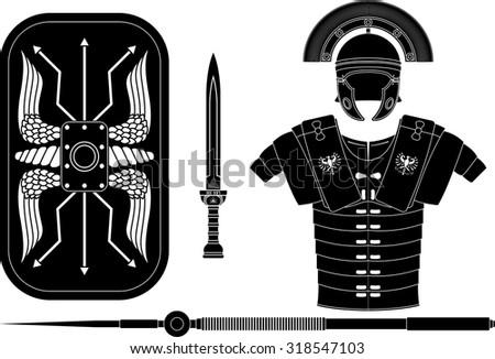 roman armor - stock vector