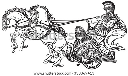 Roman Chariots Drawings Chariot Stock Photos, ...