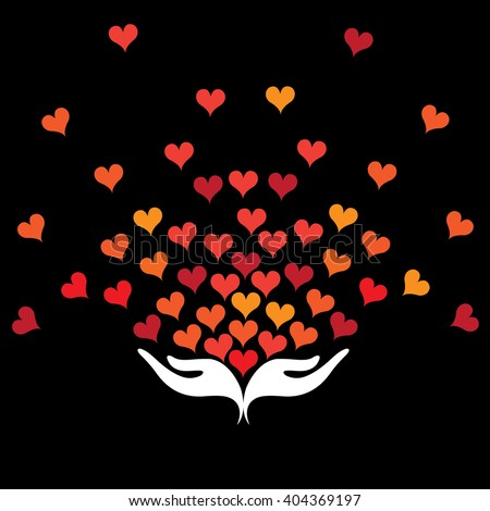 romance hearts vector icon in eps 10 format - stock vector