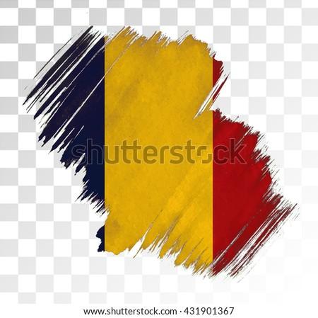 Romania Grunge Texture Flag. - stock vector