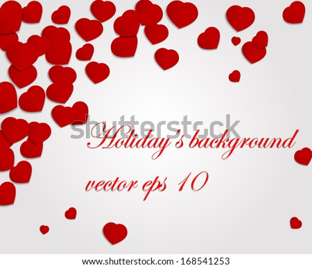 Romantic background.Vector eps 10 - stock vector