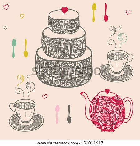 romantic bicycle with heart shaped seat and lacy wheels - stock vector
