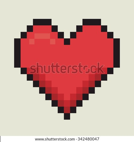 Romantic colorful card design with pink hearts graphic design, vector illustration - stock vector
