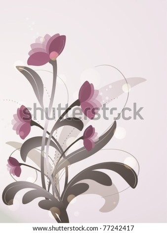 Romantic Floral Background - stock vector