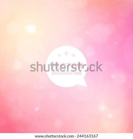 romantic shiny blurred vector background with lights for banner, website, presentation or brochure.  - stock vector