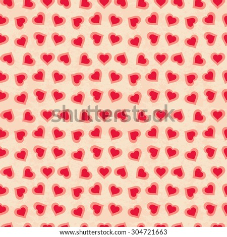 Romantic vector seamless pattern. Cover for Valentines day background design.  - stock vector