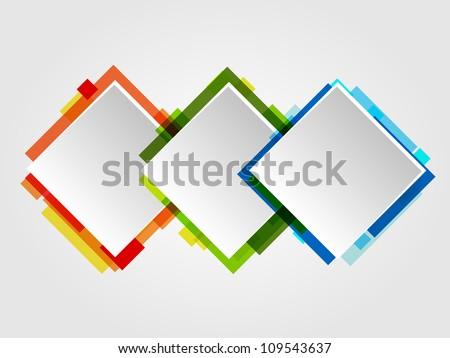 Romb Design Frames. Abstract Vector Business Design. - stock vector