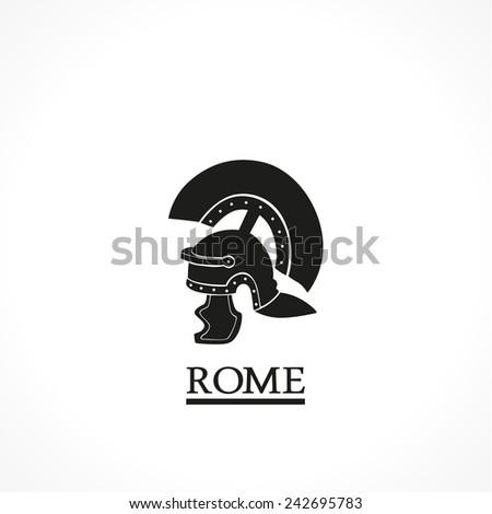 Rome helmet-vector icon - stock vector