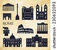 Rome. Vector illustration - stock vector