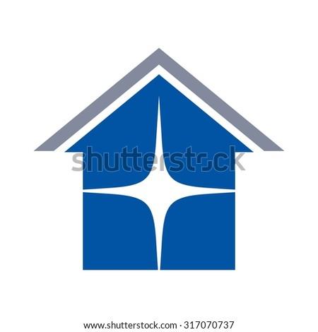 roof logo. home logo. realty logo. - stock vector