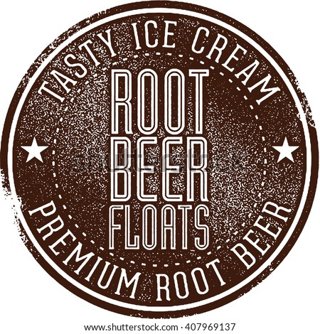 Root Beer Floats - stock vector