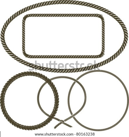 Rope - stock vector