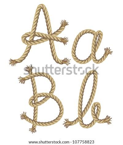 Rope Logo Vector Rope Alphabet Vector