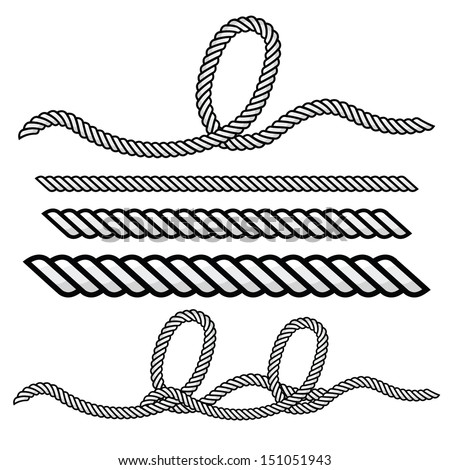 Rope Logo Vector Rope Outline Vector